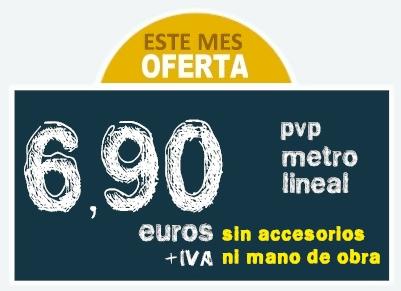 Oferta Canalones: Este mes Oferta | 6,90 PVP Metro Lineal (sin accesorios de canalones ni mano de obra)